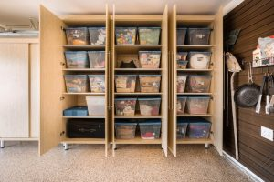 A set of garage drawers is a brief manner to get matters organized.